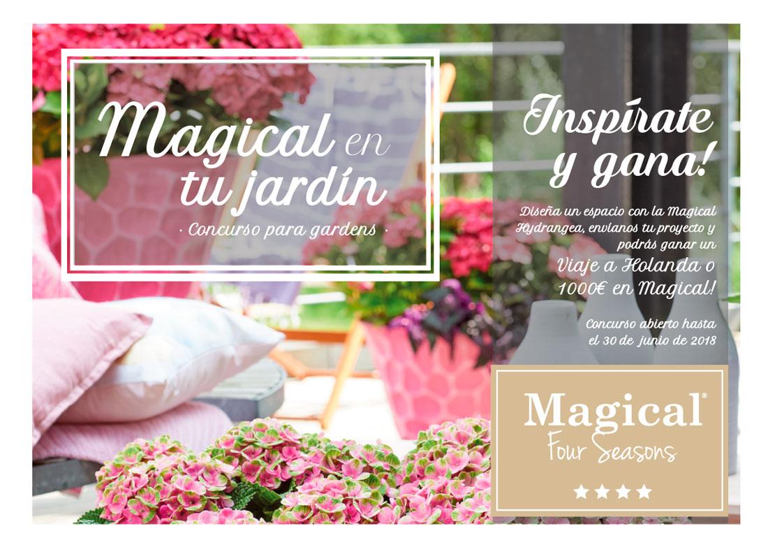 Coplant Galicia pone en marcha un concurso de 'Magical Hydrangea' para gardens de España y Portugal