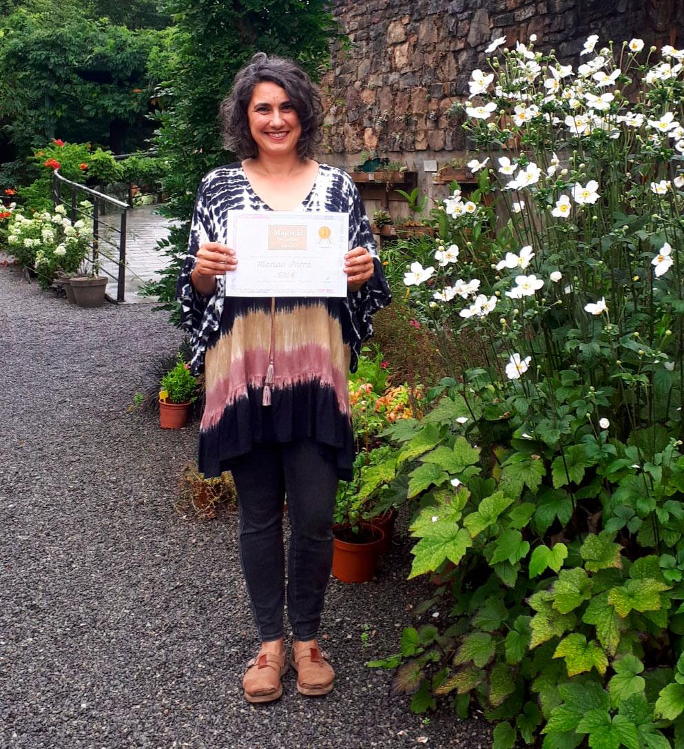 Marián Parra, ganadora de la segunda edición del concurso 'Magical en tu jardín'